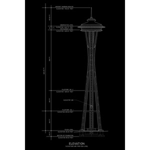 Spaceneedle_black_24x36